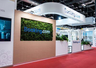 Booking.com stand exterior 2