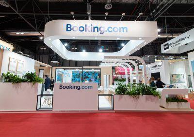 Booking.com stand exterior